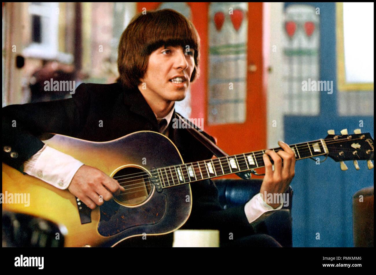 Prod DB © Subafilms / DR AU SECOURS ! (HELP !) de Richard Lester 1965 GB Avec George Harrison  guitare, chanter, instrument de musique, musicien - Stock Image