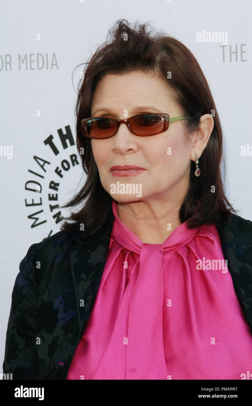 Carrie Fisher at Debbie Reynolds' Hollywood Memorabilia Exhibit Reception held at the Paley Center for Media in Beverly Hills, CA, June 7, 2011. Photo by Joe Martinez / PictureLux - Stock Image
