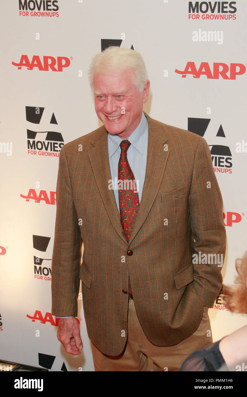 Larry Hagman at the 10th Annual Movies for Grownups Awards. Arrivals held at the Beverly Wilshire Hotel in Beverly Hills, CA, February 7, 2011. Photo by Joe Martinez / PictureLux - Stock Image