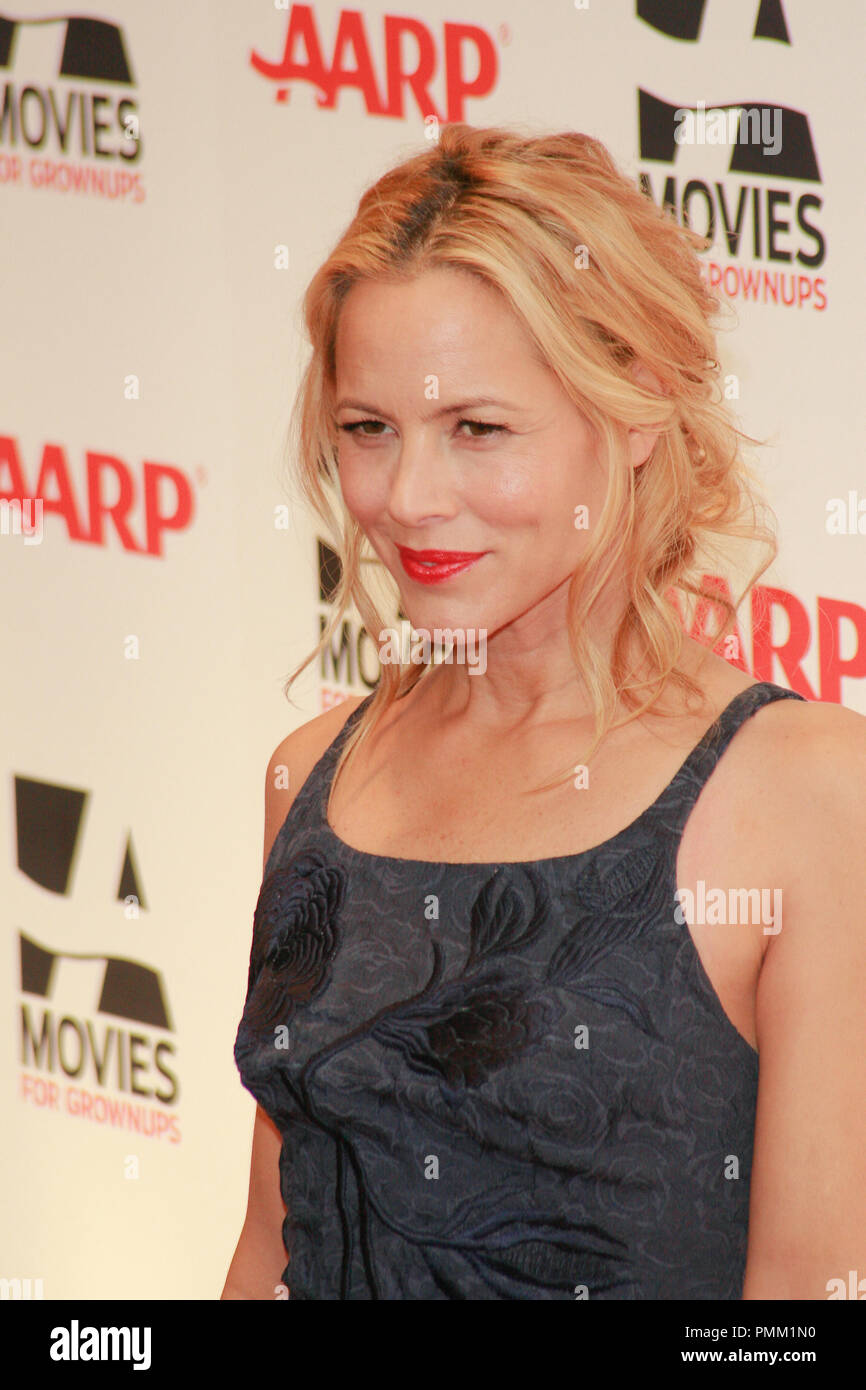 Maria Bello at the 10th Annual Movies for Grownups Awards. Arrivals held at the Beverly Wilshire Hotel in Beverly Hills, CA, February 7, 2011. Photo by Joe Martinez / PictureLux - Stock Image