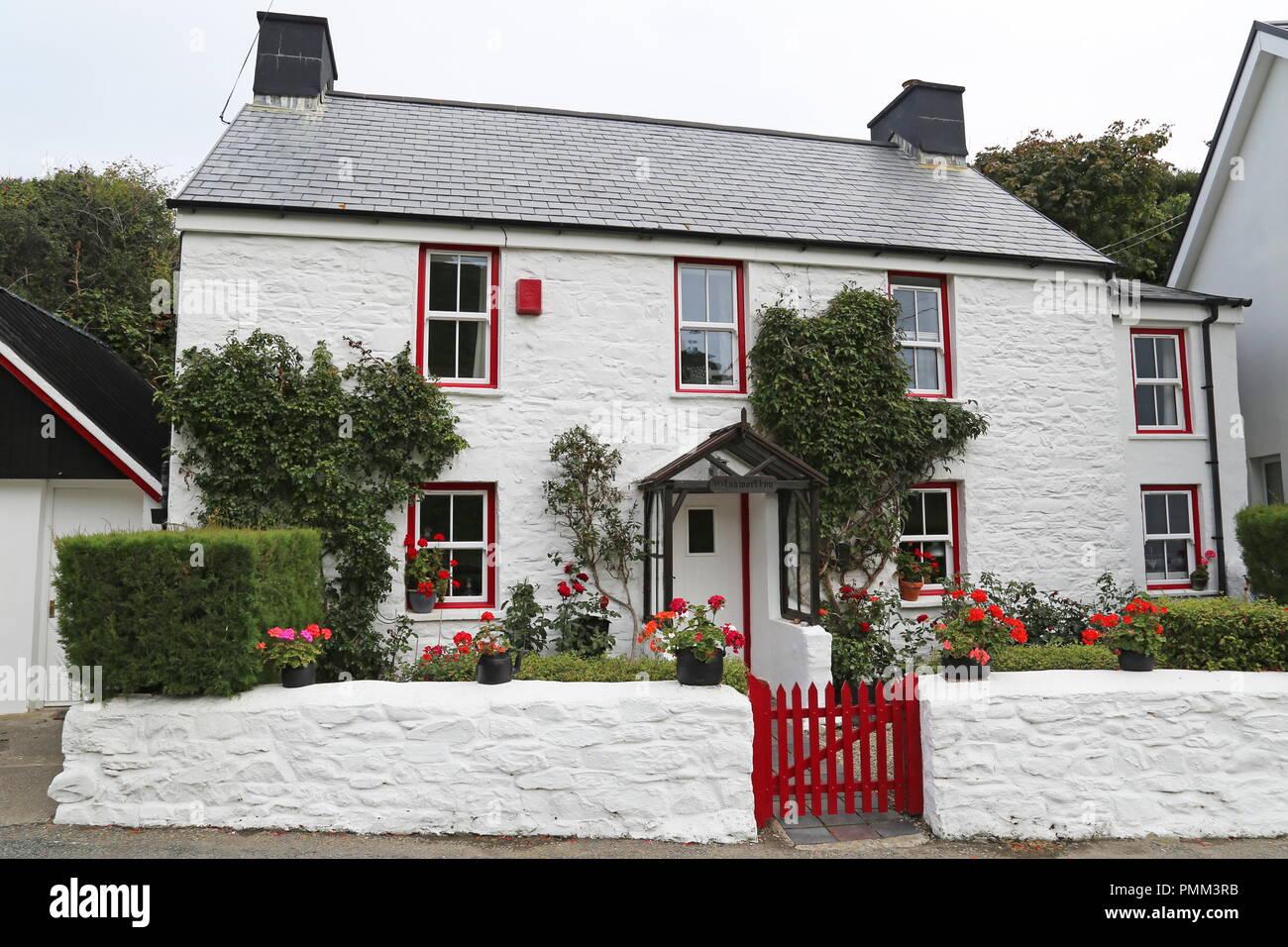 Glanmorllyn cottage, Cwmtydu, Cardigan Bay, Ceredigion, Wales, Great Britain, United Kingdom, UK, Europe - Stock Image