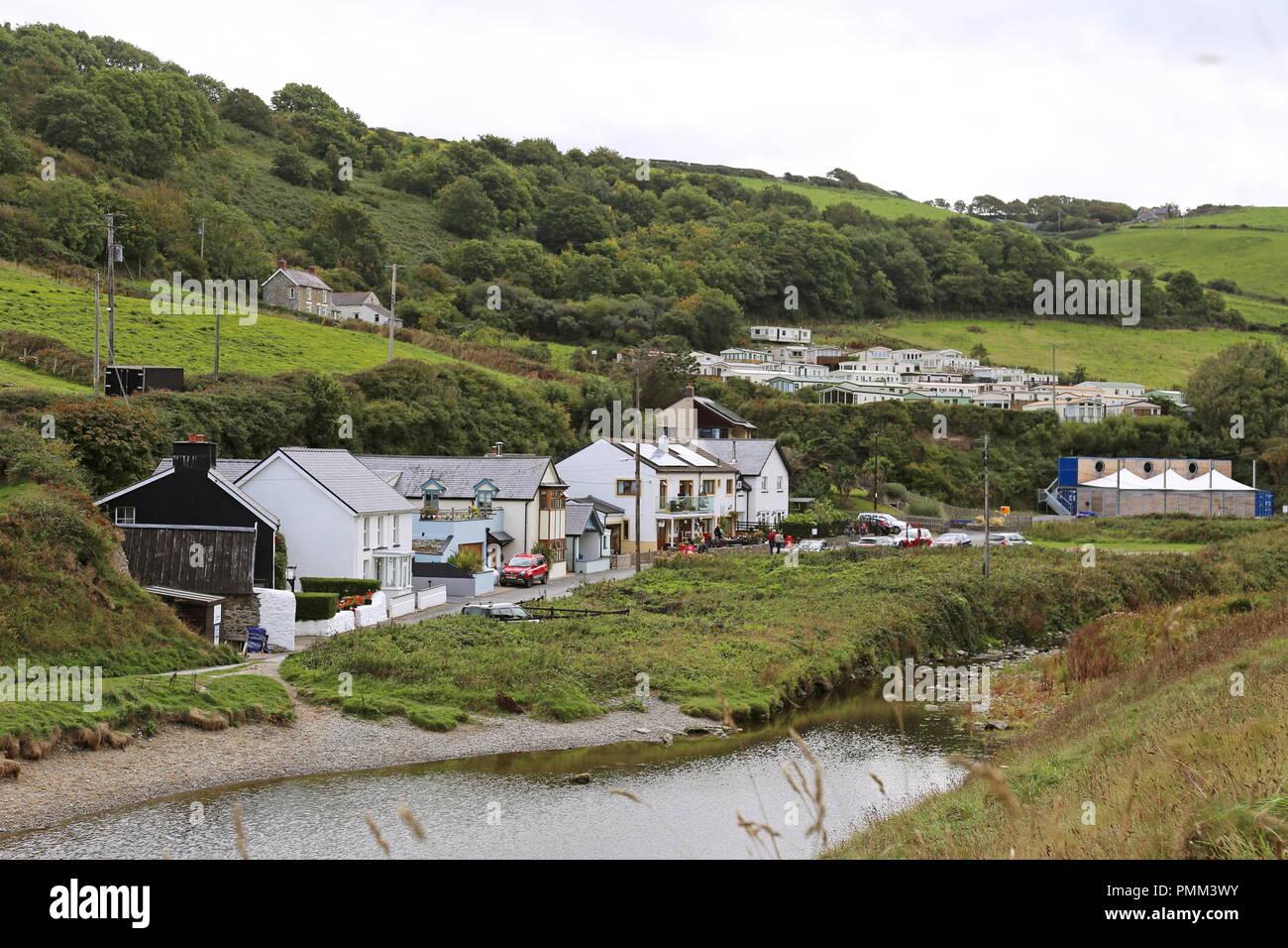 Cwmtydu, Cardigan Bay, Ceredigion, Wales, Great Britain, United Kingdom, UK, Europe - Stock Image