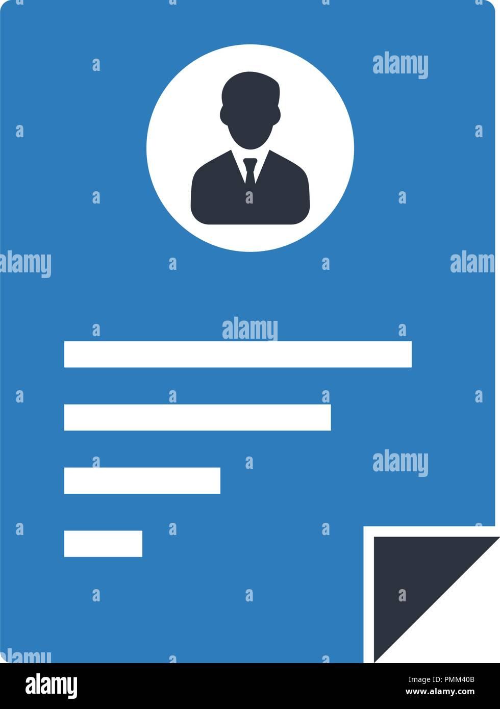 Resume Vector Icon Cv Icon Blue Stock Vector Image Art Alamy