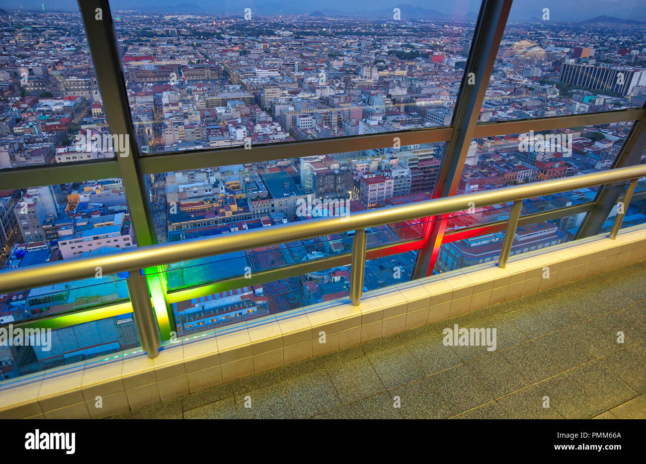Mexico City panoramic view from observation deck - Stock Image