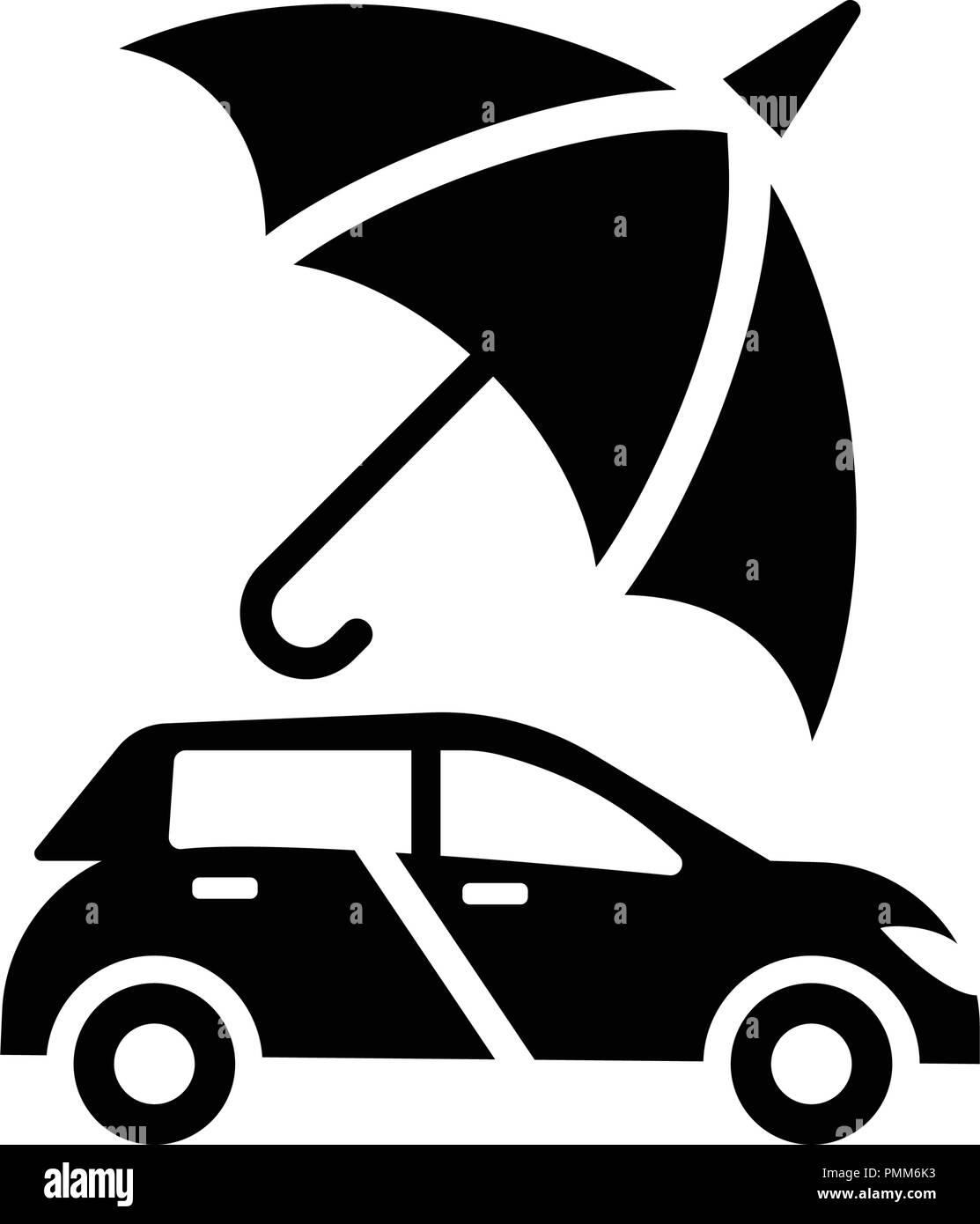car protection auto insurance icon vector black