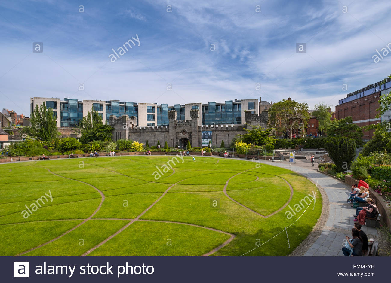 The Coach House with Dubh Linn Garden in the foreground, Dublin, Leinster, Ireland Stock Photo