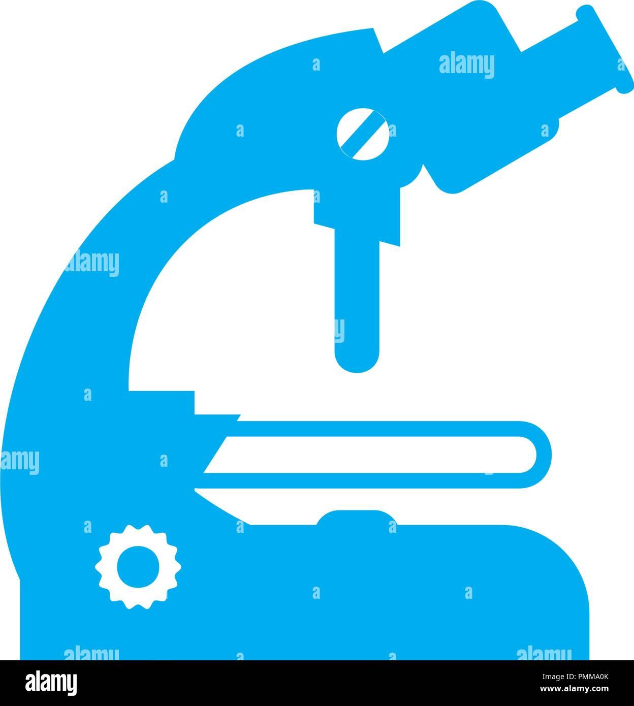 Microscope Icon 2 Vector Blue - Stock Vector