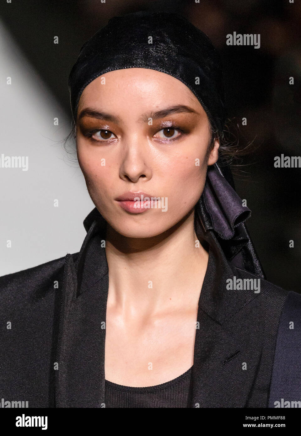 NEW YORK, NY - September 05, 2018: Fei Fei Sun walks the runway at the Tom Ford Spring Summer 2019 fashion show during New York Fashion Week Stock Photo