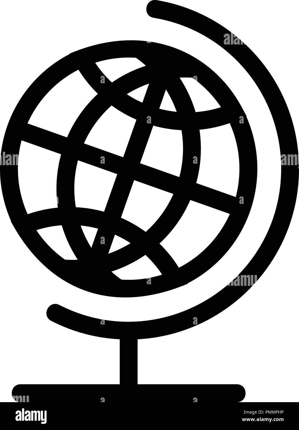 Globe Icon Black and White Stock Photos & Images - Alamy