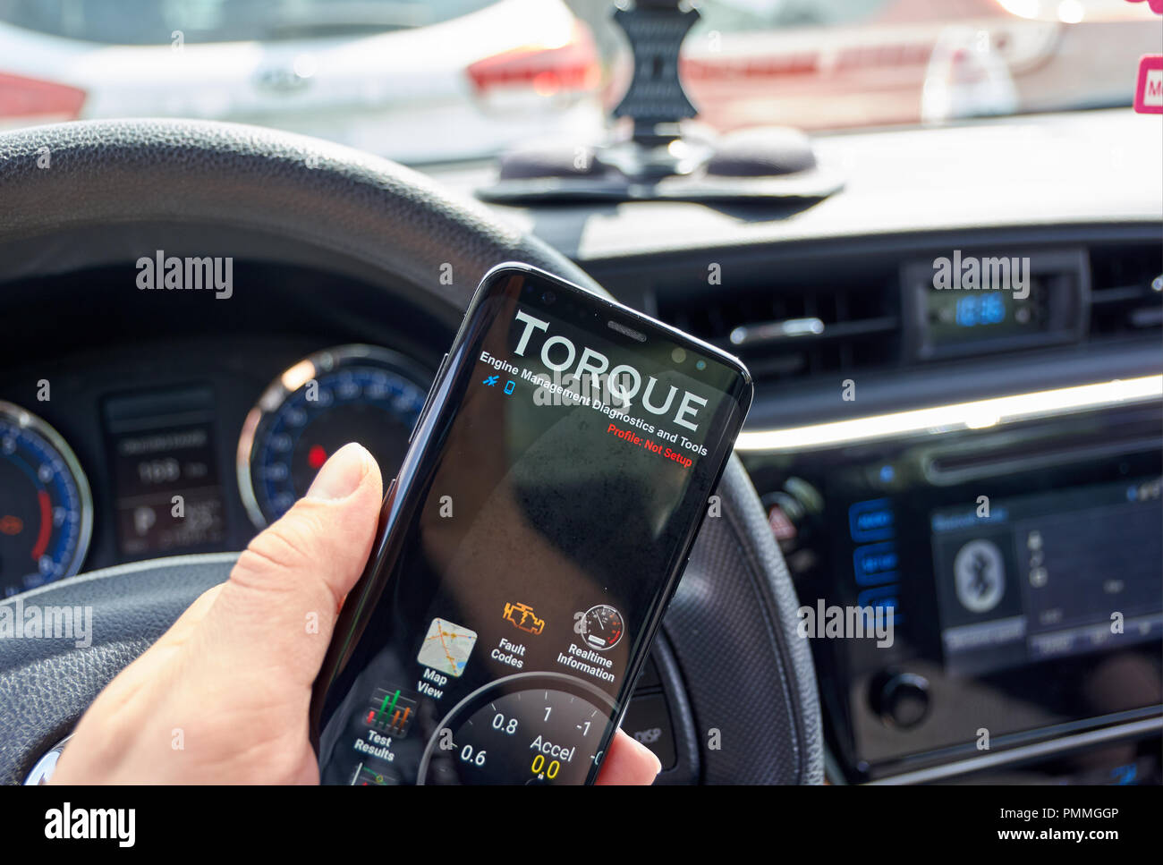 MONTREAL, CANADA - AUGUST 10, 2018: Torque PRO android app