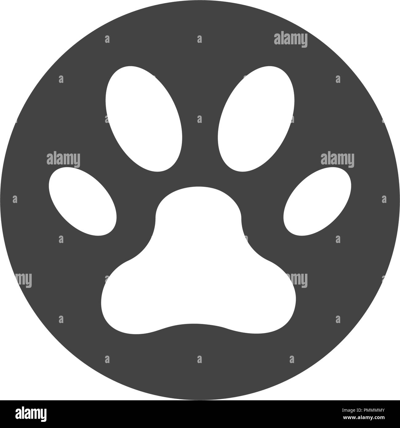 paw icon vector illustration design logo template stock vector art