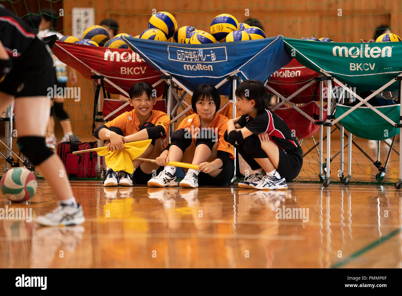 Volleyball (Junior High School Student) - Stock Image