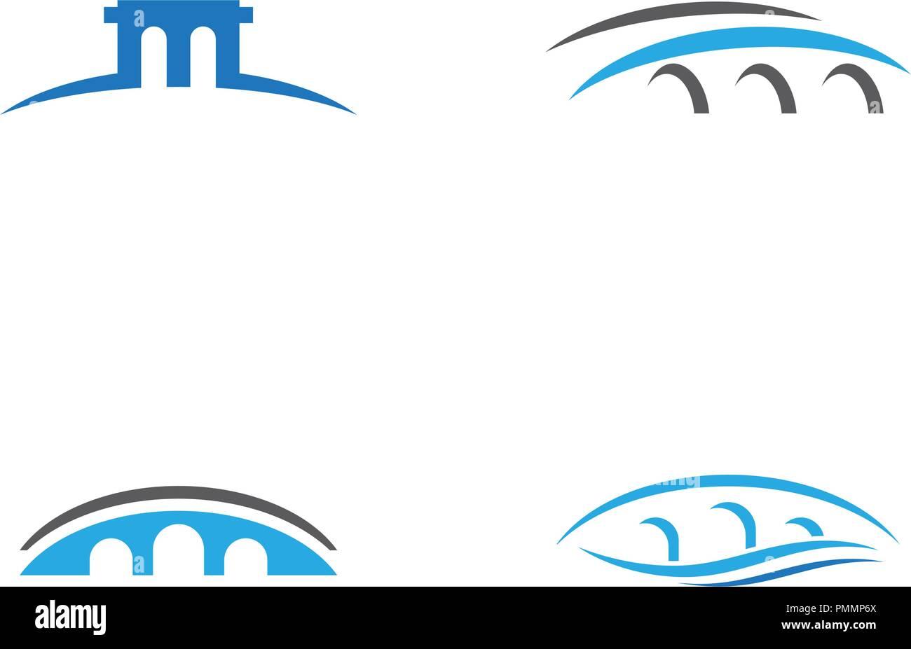 Bridge Logo Template vector icon illustration design - Stock Vector