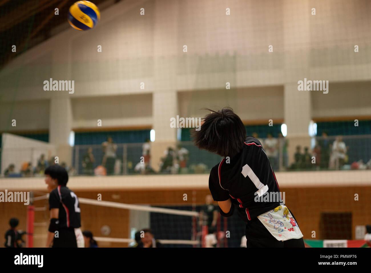 Volleyball (Junior High School Student) - Stock Image