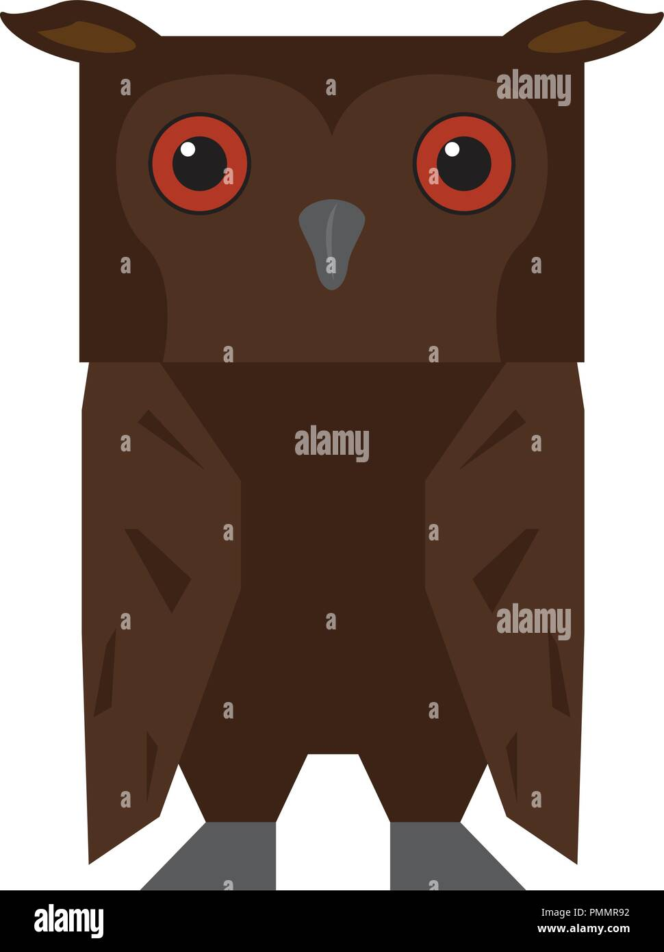 Cute Halloween Owl Cartoon Character
