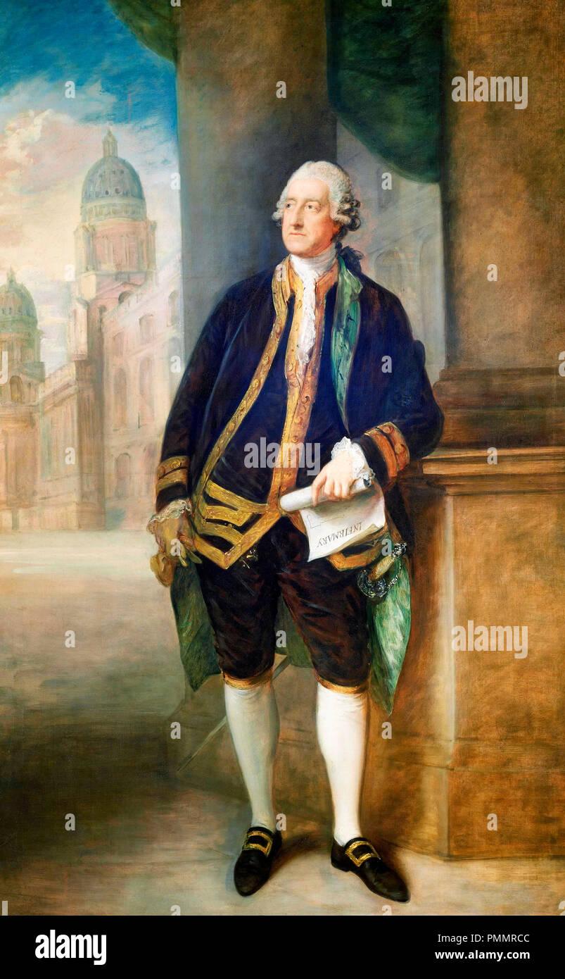 John Montagu, 4th Earl of Sandwich - Thomas Gainsborough, circa 1783 - Stock Image