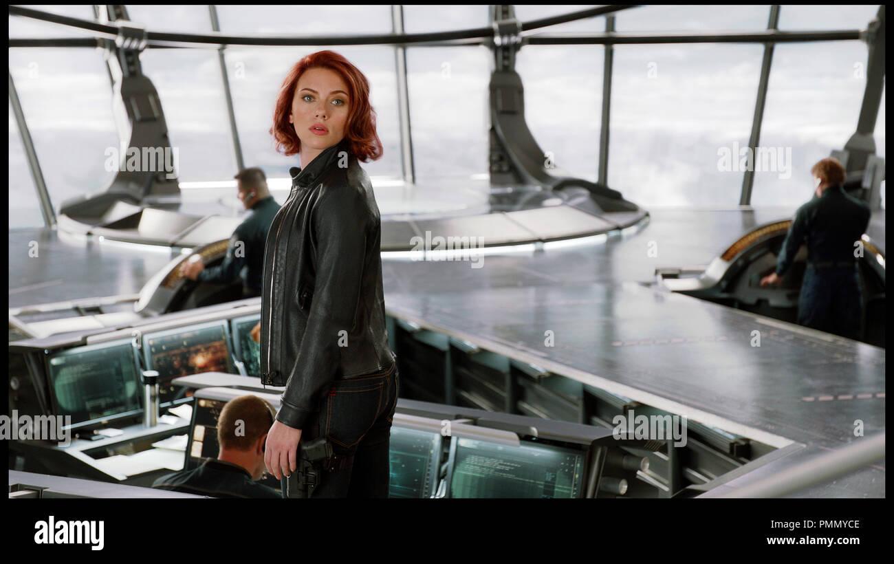 Scarlett Johansson Black Widow Stock Photos Scarlett