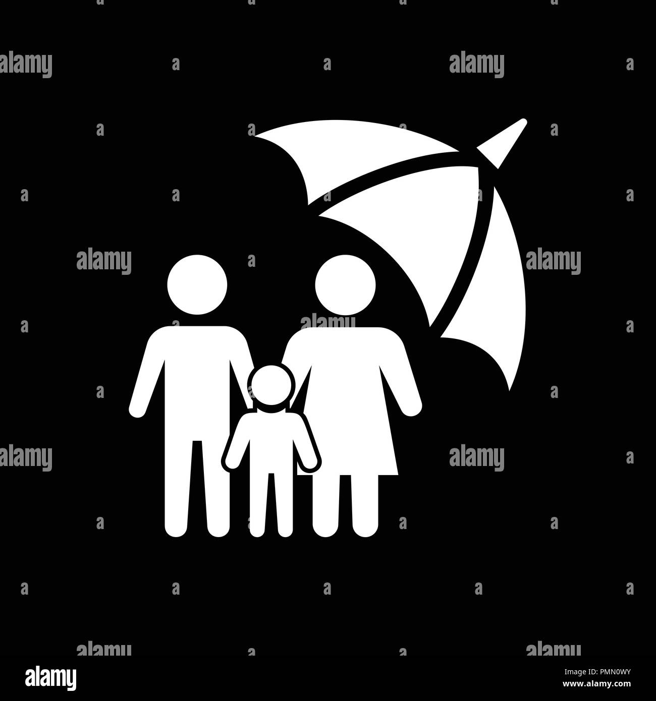 Life Insurance Icon Illustration Isolated Vector Sign Symbol