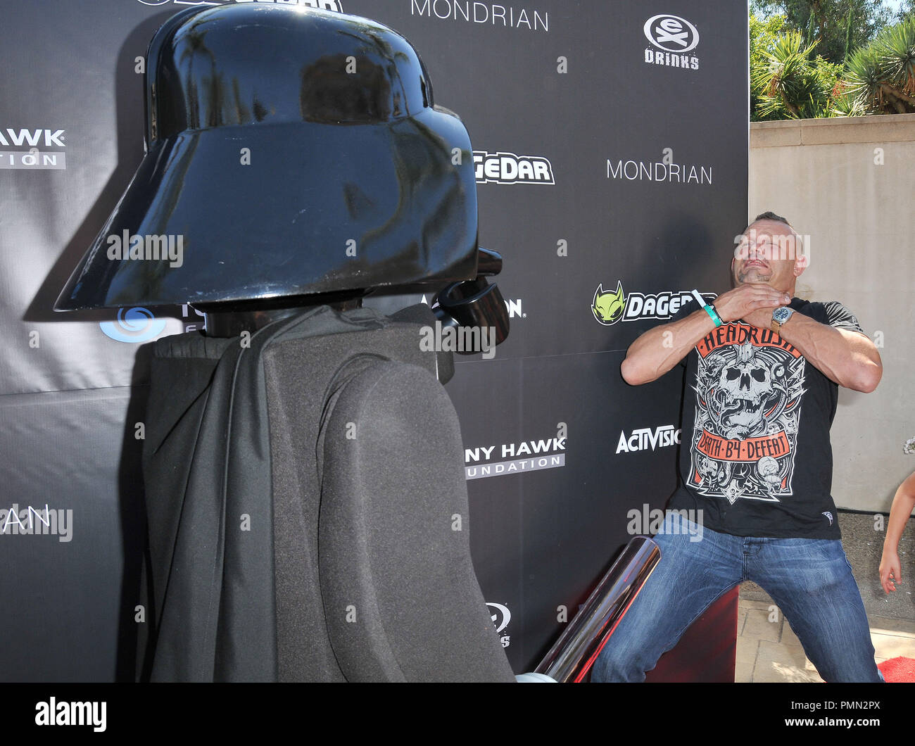 UFC Fighter Chuck Liddell & Lego Darth Vader at Tony Hawk's 8th Annual Stand Up For Skateparks Benefit held at Ron Burkle's Green Acres Estate in Beverly Hills, CA. The event took place on Sunday, October 2, 2011. Photo by PRPP_Pacific Rim Photo Press/ PictureLux - Stock Image