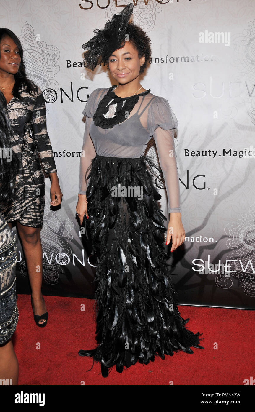 c13eb263e Raven Symone wearing Sue Wong at the Sue Wong Presents LADY OR VAMP Spring  2012 Collection Preview held at Voyeur in West Hollywood