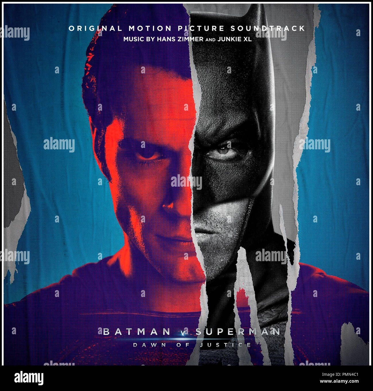 Prod DB © Warner Bros. - DC Entertainment - RatPac-Dune Entertainment - Syncopy / DR BATMAN V SUPERMAN: L'AUBE DE LA JUSTICE (BATMAN VS. SUPERMAN: DAWN OF JUSTICE) de Zack Snyder 2016 USA bande originale du film de Hans Zimmer et Junkie XL - Stock Image