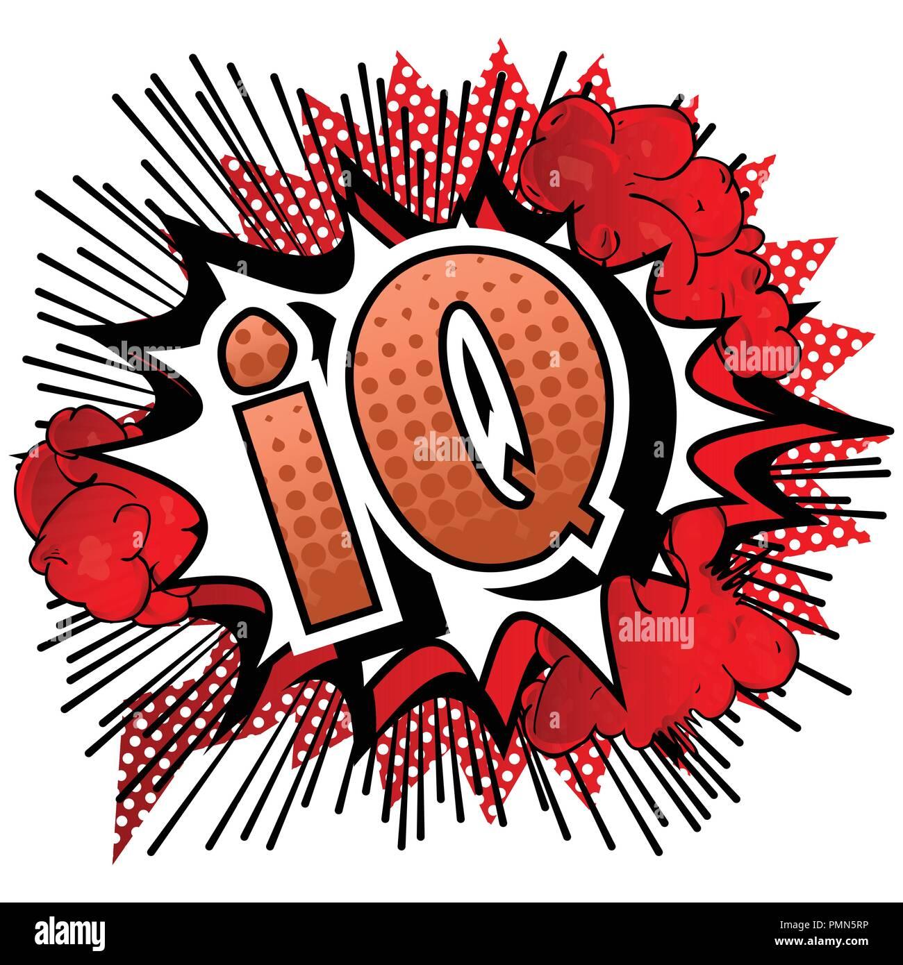 IQ - Vector illustrated comic book style phrase. - Stock Image