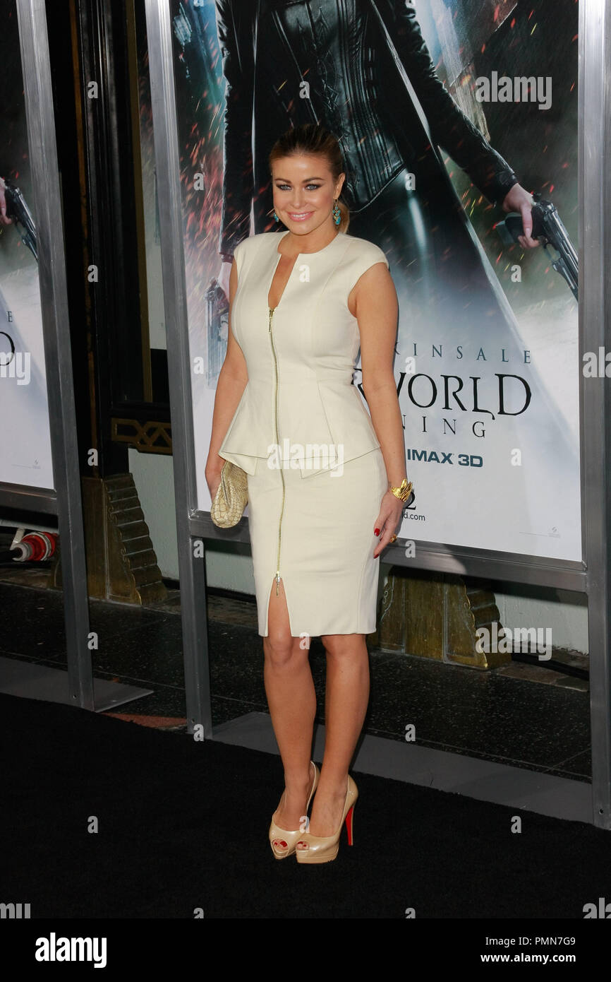 Carmen Electra at the World Premiere of Screen Gems & Lakeshore Entertainment's 'Underworld: Awakening'. Arrivals were held at Grauman's Chinese Theatre in Hollywood, CA, January 19, 2012. Photo by Joe Martinez / PictureLux - Stock Image