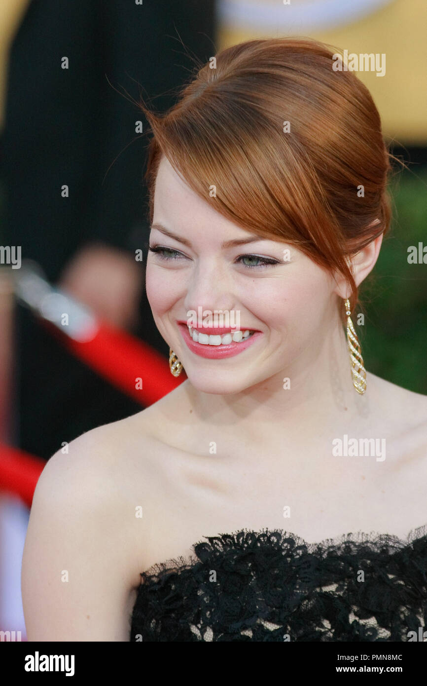 Emma Stone at the 18th Annual Screen Actors Guild Awards. Arrivals held at the Shrine Auditorium in Los Angeles, CA, January 29, 2012. Photo by Joe Martinez / PictureLux - Stock Image