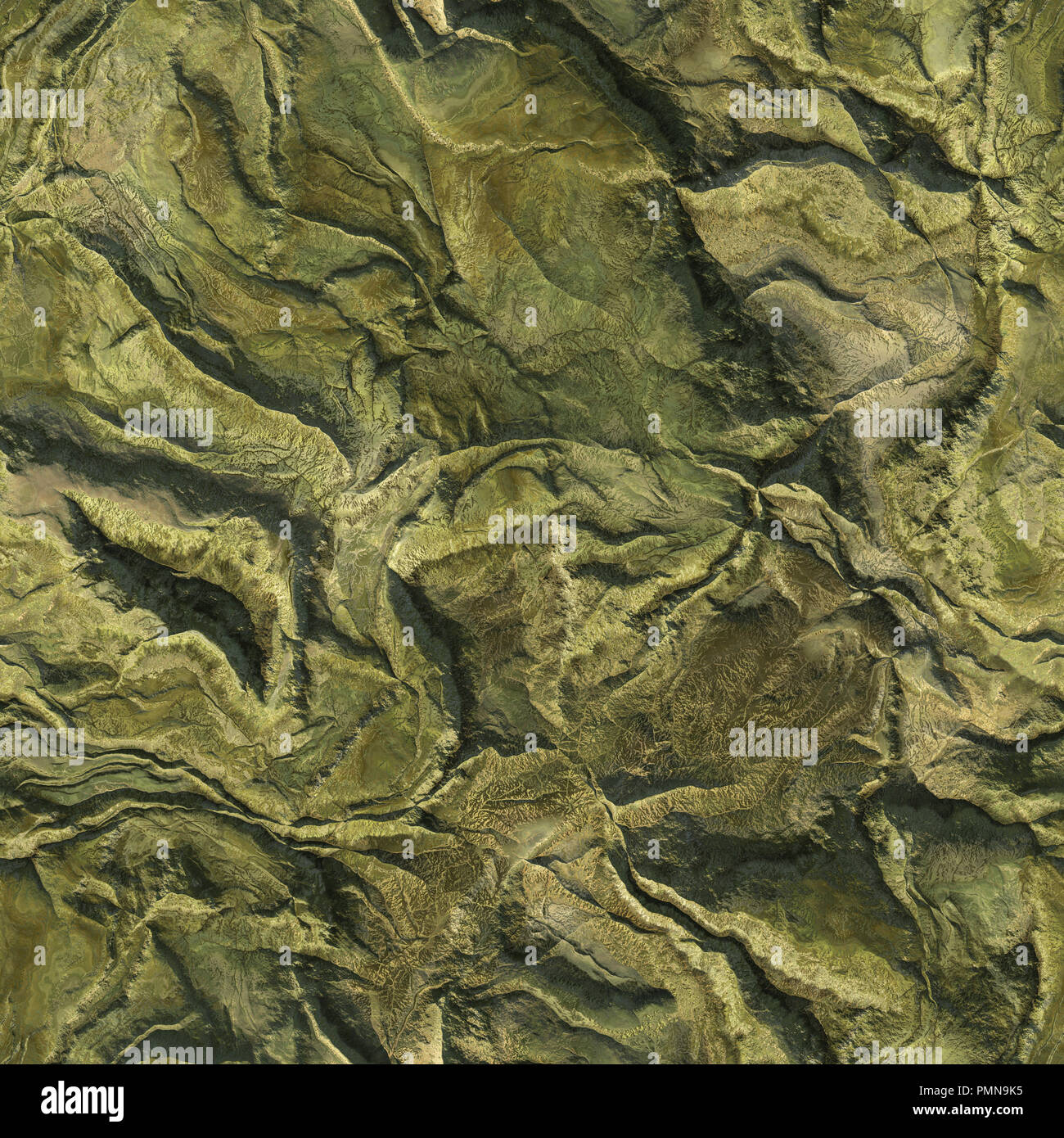 Aerial View From Air Plane Of Green Nature Mountains Seamless Texture Background 3d Illustration Stock Photo Alamy