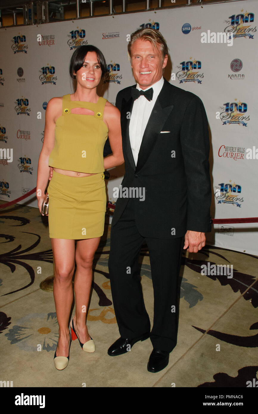 Dolph Lundgren at the 22nd Annual Night of 100 Stars Awards Gala held at the Beverly Hills Hotel in Beverly Hills, CA, February 26, 2012. Photo by Joe Martinez / PictureLux - Stock Image