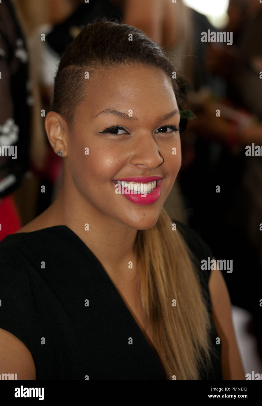 Liz Cambage at the Melbourne Cup, November 1, 2011. Stock Photo
