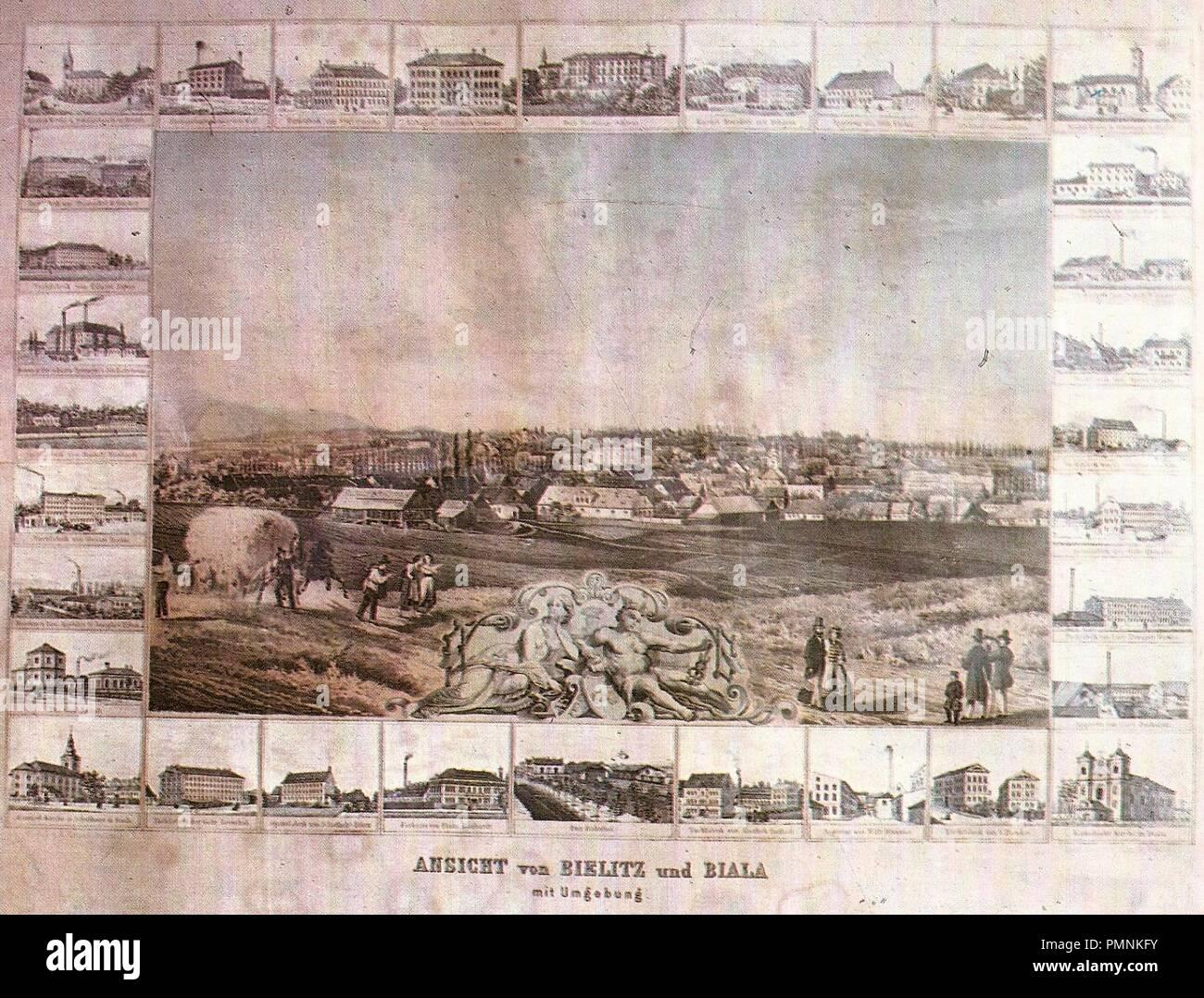 Bielsko-Biała 1871. - Stock Image