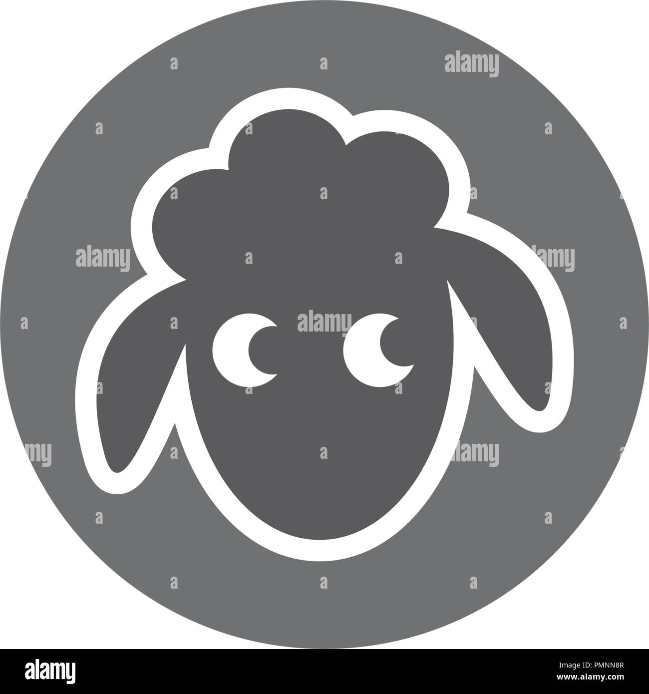 Sheep vector icon logo silhouette illustration - Stock Vector
