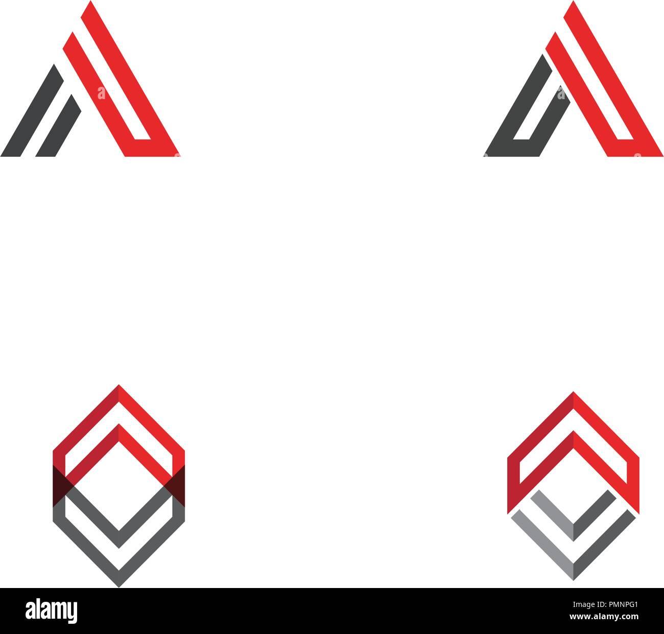A Letter Logo Template vector icon illustration design Stock Vector