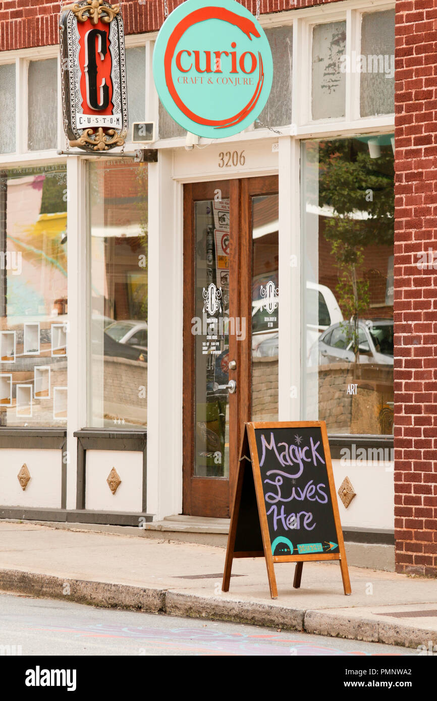 Curio Craft and Conjure in NoDa - Stock Image