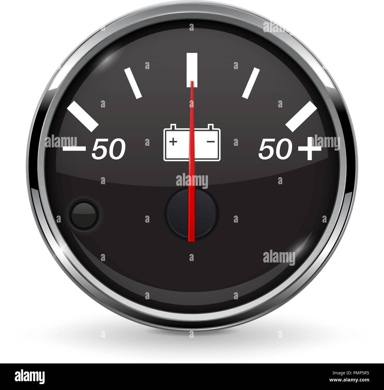 Accumulator gauge - Stock Vector