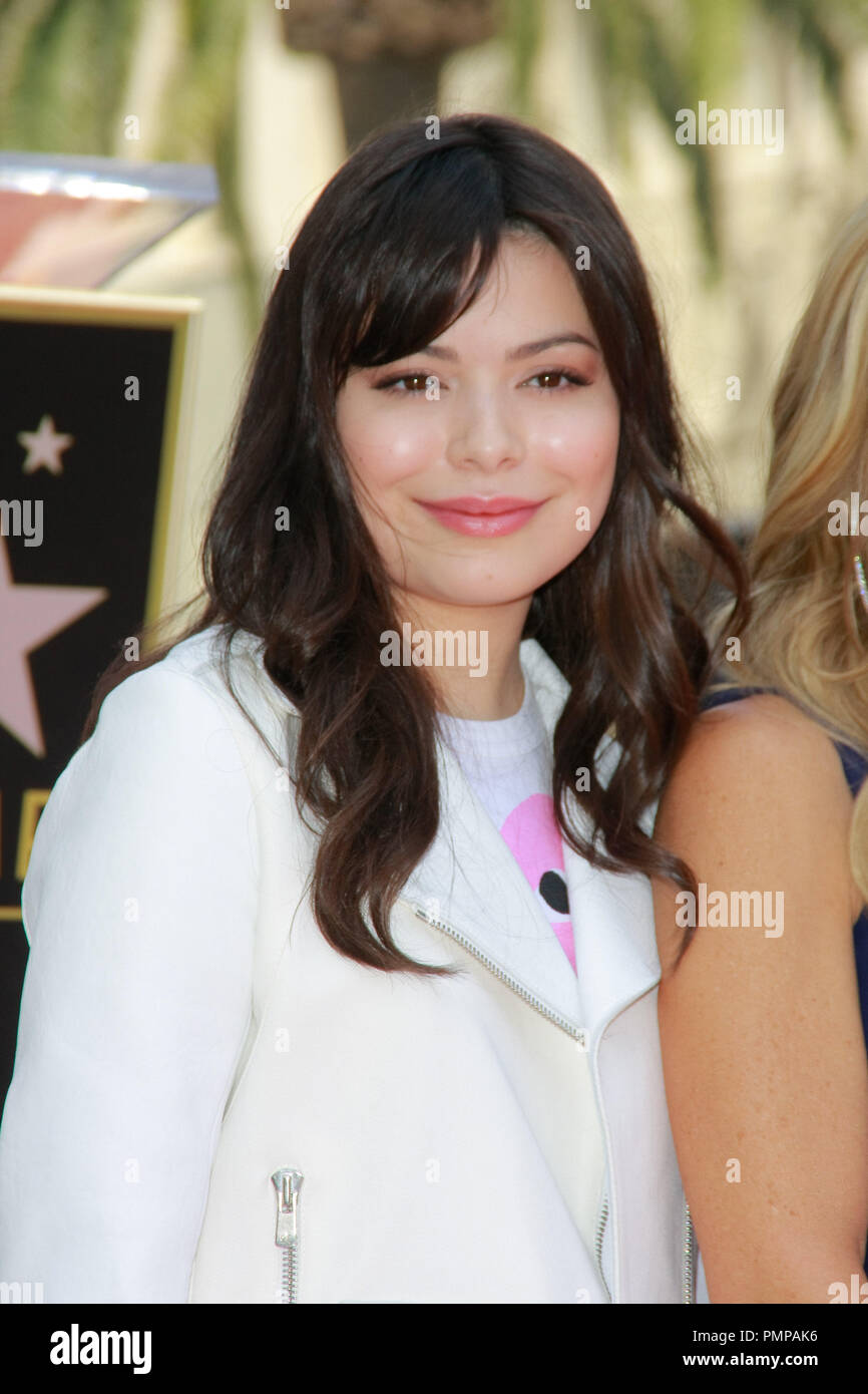 Miranda Cosgrove at the Hollywood Chamber of Commerce ceremony to honor Ellen K. with a star on the Hollywood Walk of Fame in Hollywood, CA, May, 10, 2012.  Photo by Joe Martinez / PictureLux - Stock Image