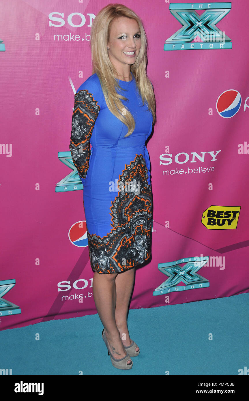 Britney Spears at 'The X Factor' Season 2 Premiere Party held at the Grauman's Chinese Theatre in Hollywood, CA. The event took place on Tuesday,  September 11, 2012. Photo by PRPP_PRPP  File Reference # 31644_005PRPP  For Editorial Use Only -  All Rights Reserved - Stock Image