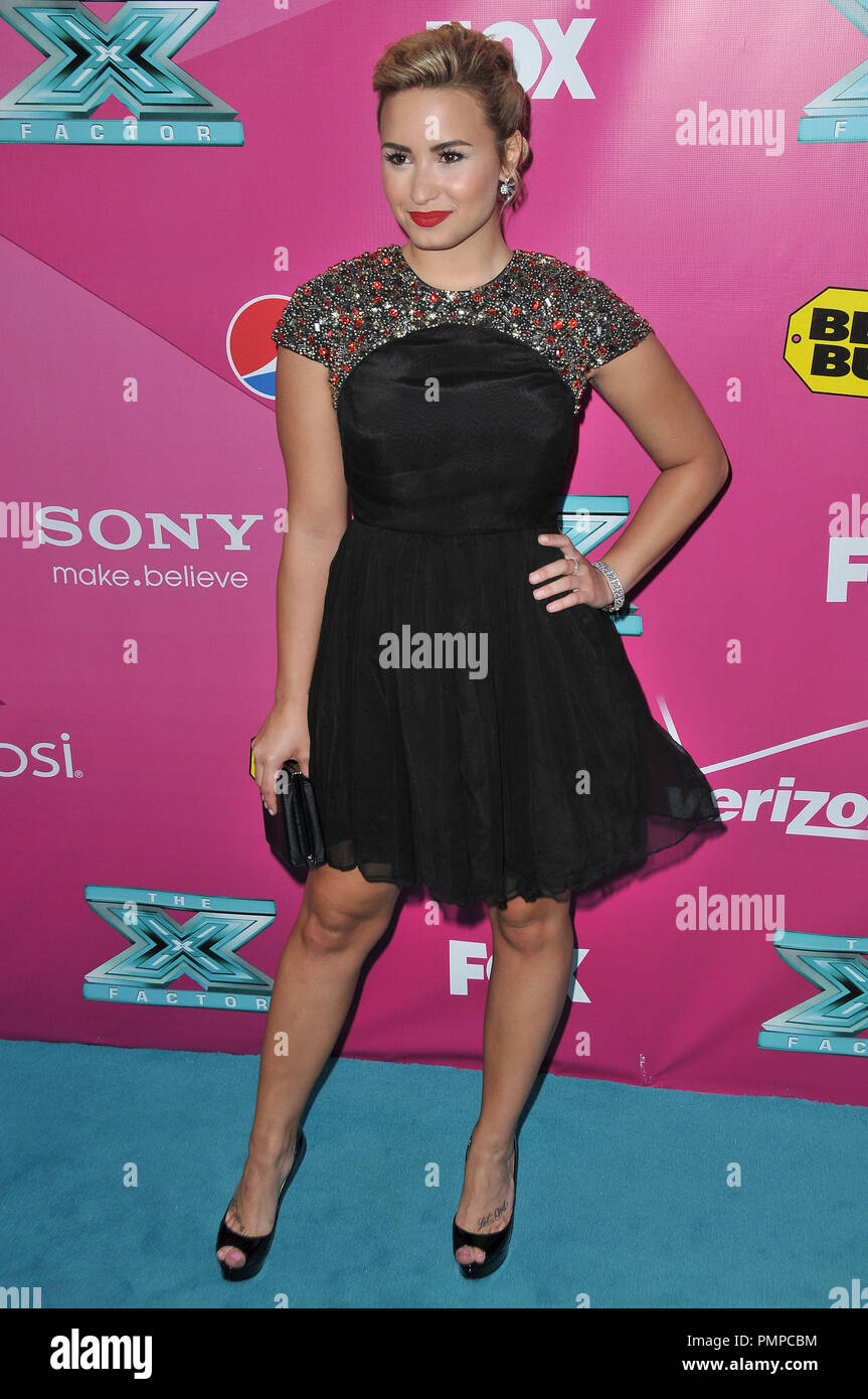 Demi Lovato at 'The X Factor' Season 2 Premiere Party held at the Grauman's Chinese Theatre in Hollywood, CA. The event took place on Tuesday,  September 11, 2012. Photo by PRPP_PRPP  File Reference # 31644_014PRPP  For Editorial Use Only -  All Rights Reserved - Stock Image
