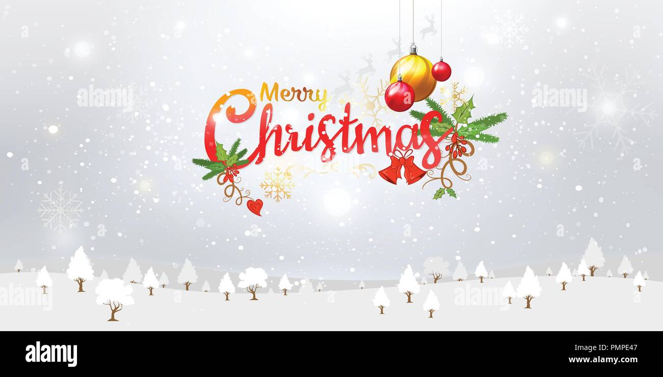 Merry Christmas Typography Stock Vector Images - Alamy