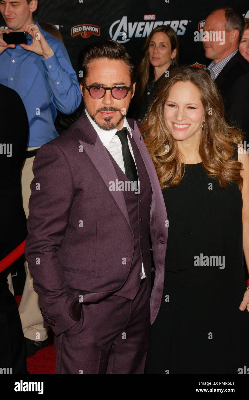 Robert Downey Jr  and his wife Susan Downey at the World