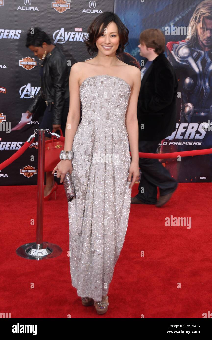 Ryoko Yunekura at 'Marvel's The Avengers' Premiere. Arrivals held at ELCapitan Theatre in Los Angeles, CA, April 11, 2012. Photo by M.Adams / PictureLux - Stock Image