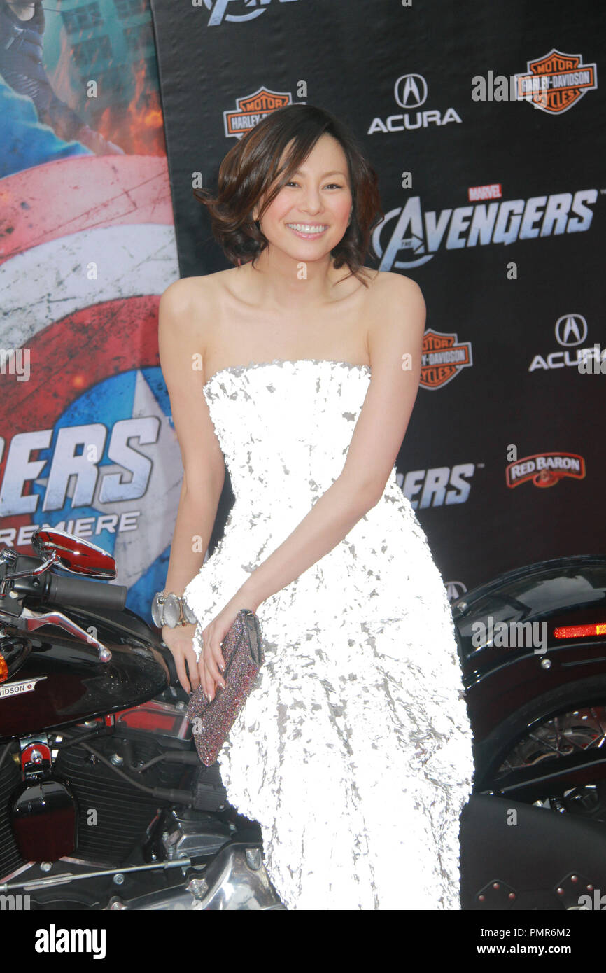 Ryoko Yonekura 04/11/2012 'Marvel's The Avengers' Premiere held at El Capitan Theater in Hollywood, CA Photo by Manae Nishiyama / HollywoodNewsWire.net / PictureLux - Stock Image