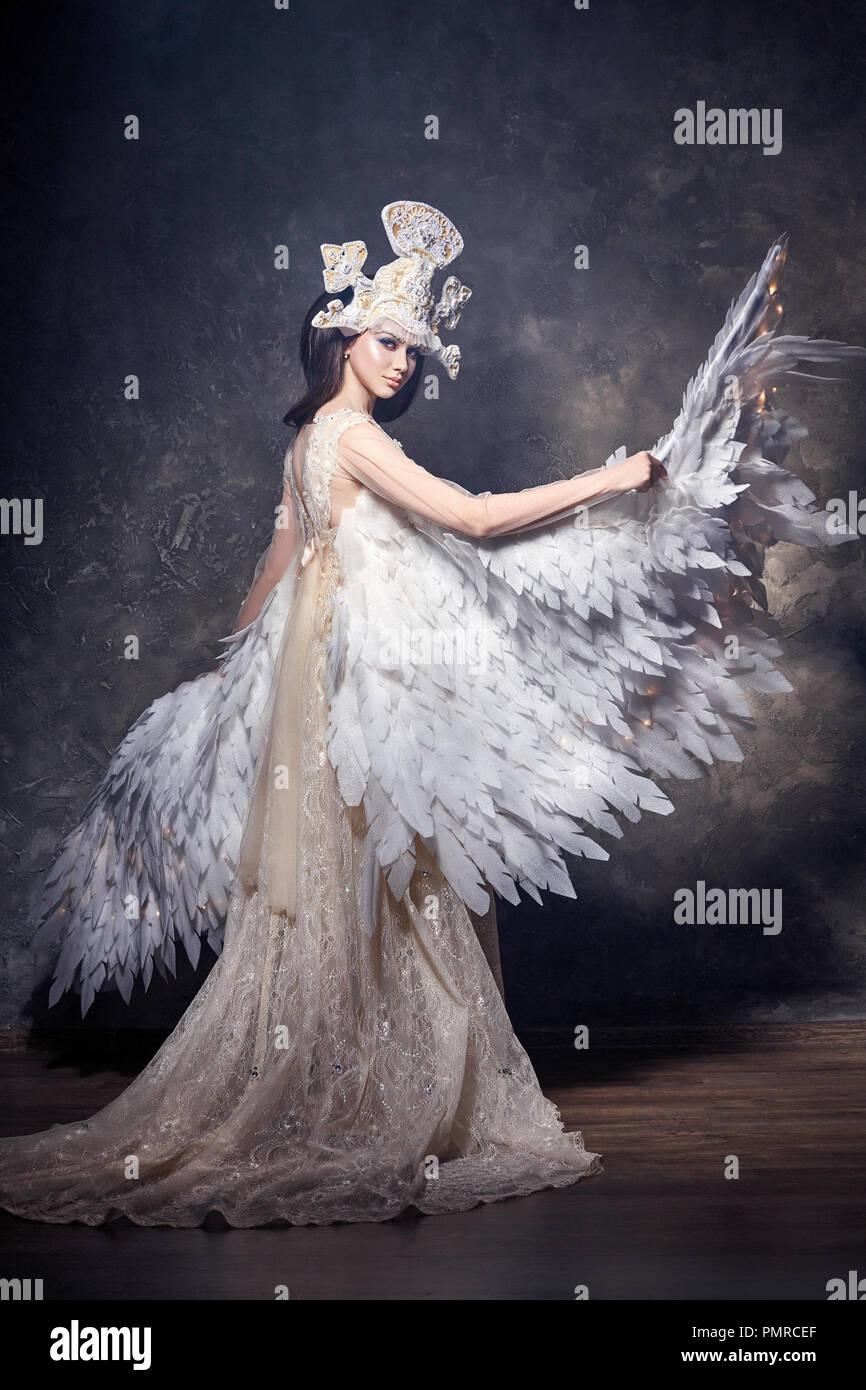 d24ce65f6 Art angel girl with wings fairy image. Swan Princess