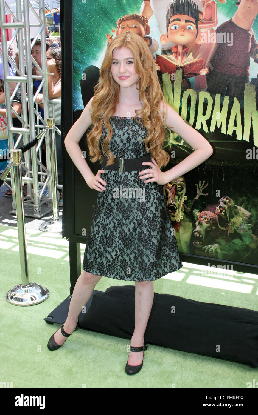 Katherine McNamara at the premiere of Focus Features 'ParaNorman'. Arrivals held at the Universal CityWalk Cinemas in Universal City, CA, August 5, 2012. Photo by: R.Anthony / PictureLux - Stock Image