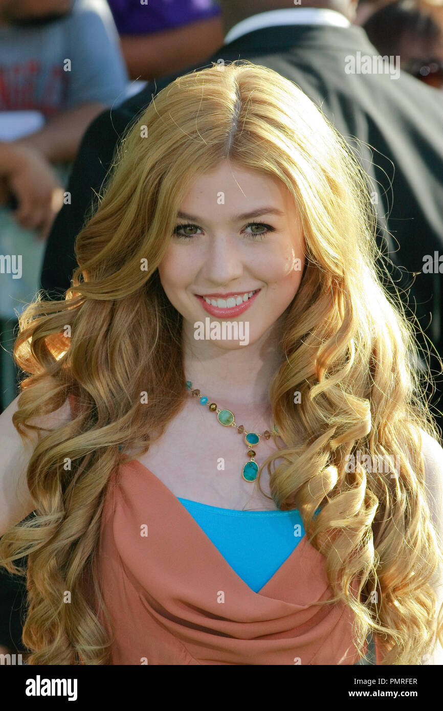 Katherine McNamara at the World Premiere of Disney's 'The Odd Life of Timothy Green'. Arrivals held at El Capitan Theatre in Hollywood, CA, August 6, 2012. Photo by Joe Martinez / PictureLux - Stock Image