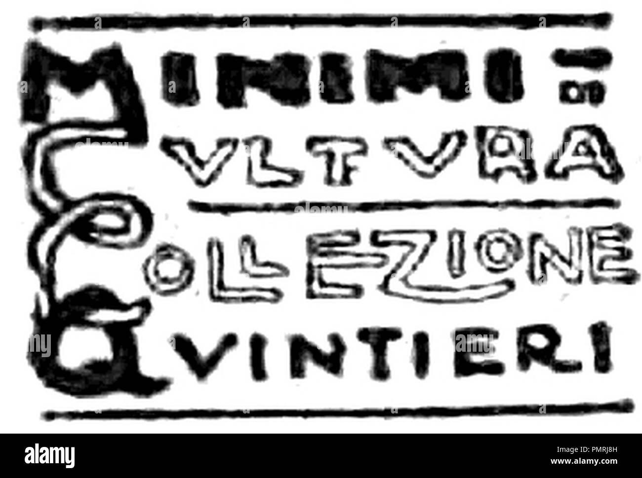 Bisi - Poetesse d'Italia Milano Quintieri 1916 (page 1 crop). - Stock Image
