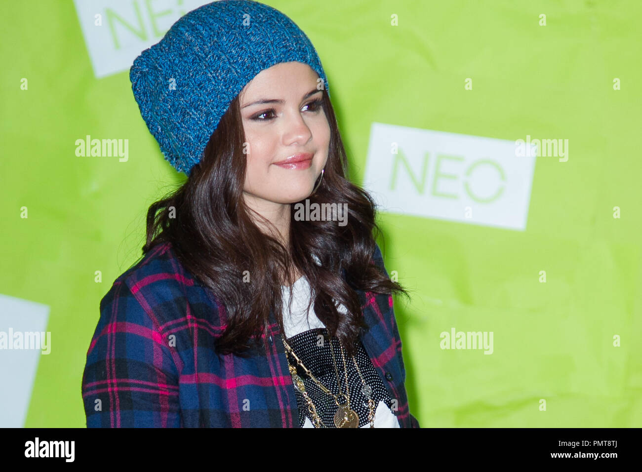 Selena Gomez attends the launch for the Adidas NEO clothing