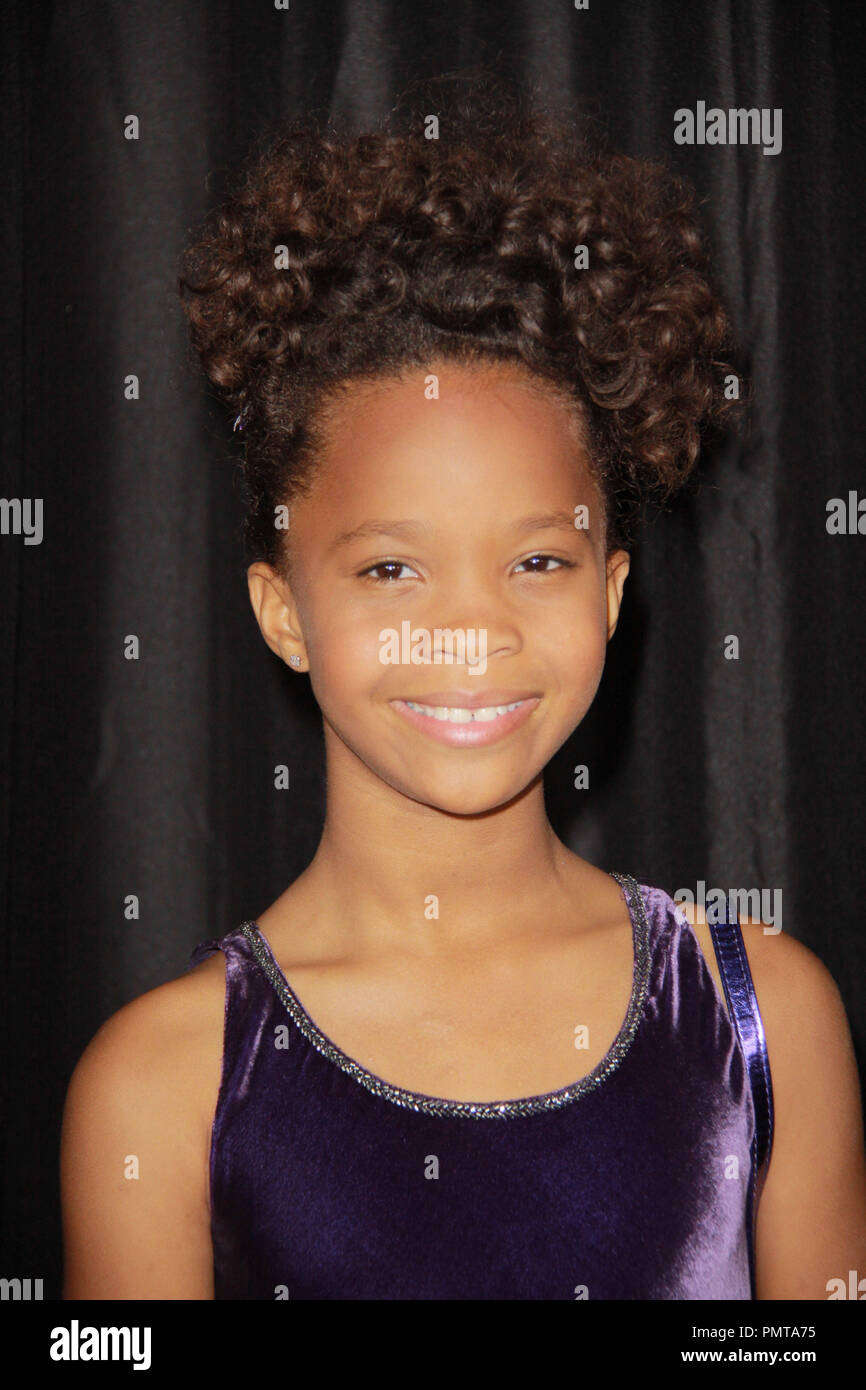 Quvenzhane Wallis 01/12/2013 The 38th Annual Los Angeles Film Critics Association Awards held at InterContinental Hotel in Los Angeles, CA Photo by Izumi Hasegawa / HNW / PictureLux - Stock Image
