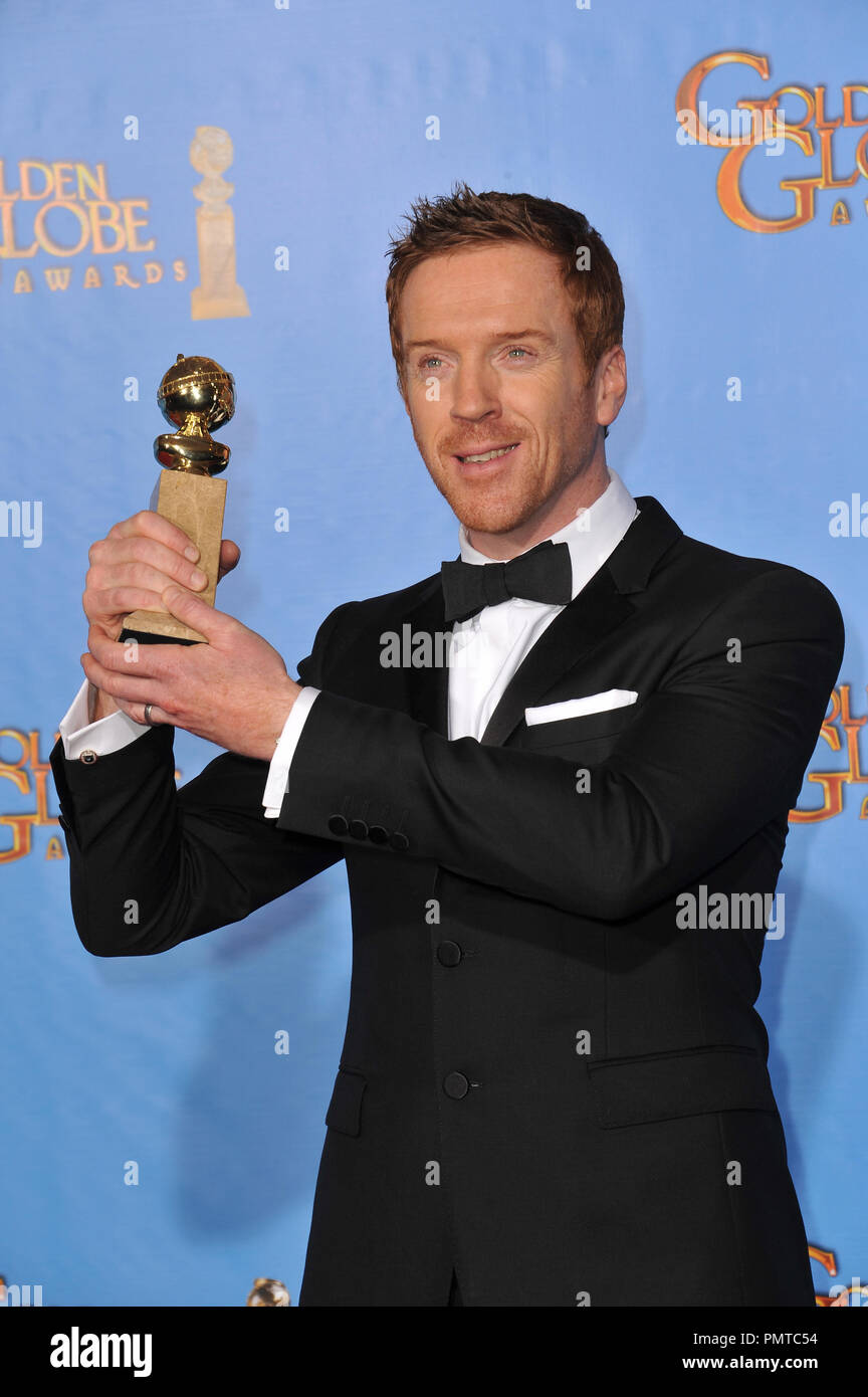Damian Lewis at the 70th Golden Globe Awards at the Beverly Hilton Hotel. January 13, 2013  Beverly Hills, CA Photo by JRC / PictureLux - Stock Image